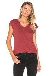 Joe's Jeans Lennox V Neck Tee Red