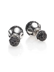 John Hardy Dot Black Sapphire And Sterling Silver Stud Earrings