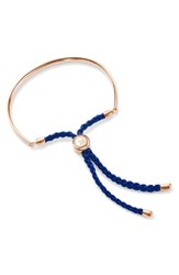 Monica Vinader Women's 'Fiji' Friendship Bracelet Rose Gold Royal Blue