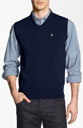 'Suisse' Tailored Fit Sweater Vest Online Only Navy