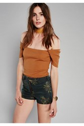 Free People Womens Paige Printed High Rise