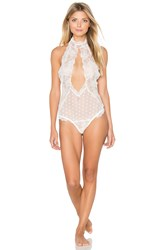 Lovers Friends Keep It Fancy Bodysuit White