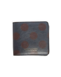 Scotch And Soda Navy Dots Leather Zipped Coin Wallet