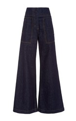 Marni High Rise Wide Legged Jeans Navy