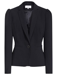 Reiss Vanda Textured Blazer Night Navy