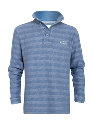 Weird Fish Tiger Henley Light Blue