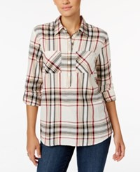 Styleandco. Style Co. Petite Plaid Shirt Only At Macy's Cabin Plaid