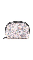 Le Sport Sac Peanuts X Lesportsac Medium Dome Cosmetic Case Happiness Dots