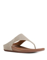 Fitflop Banda Tm Perforated Nubuck Thong Sandals Urban White