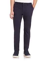 Saks Fifth Avenue Stretch Cotton Trousers Black
