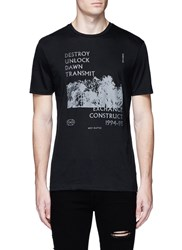 Topman Graphic Print T Shirt Black