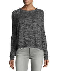 Rag And Bone Camden Long Sleeve Jersey Tee Black