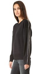 Rag And Bone Zip Pullover Black Ivory