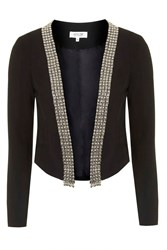 Start No Fight Black Jacket With Silver Trims By Wyldr