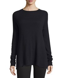 The Row Banny Long Sleeve A Line Sweater Black Women's