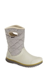 Bogs 'Juno' Waterproof Quilted Snow Boot Women Light Grey