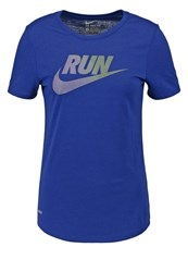 Nike Performance Run Sports Shirt Deep Royal Blue