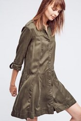 Anthropologie Mariona Shirtdress Moss