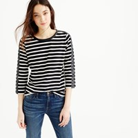 J.Crew Striped T Shirt With Back Zipper