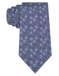 Tallia Orange Silk Floral Print Tie
