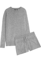 Nlst Cashmere Sweater And Shorts Set Gray
