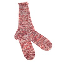 Anonymous Ism Red 5 Colour Mix Crew Socks