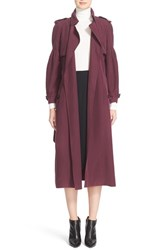 Burberry Women's Maythorne Mulberry Silk Trench