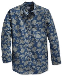 American Rag Men's Floral Print Long Sleeve Shirt Only At Macy's Blue
