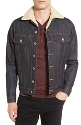 Naked And Famous Men's Denim Fleece Lined Denim Jacket