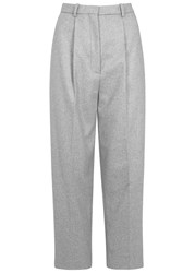 Acne Studios Milli Grey Cropped Wool Blend Trousers