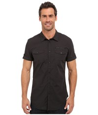 Calvin Klein Jeans Mini Check Shirt Black Men's Short Sleeve Button Up