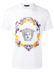 Versace Medusa Sketch Embroidered T Shirt White