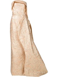Christian Siriano Strapless Gown Dress Pink And Purple