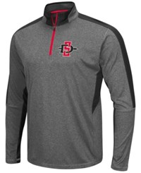 Colosseum Men's San Diego State Aztecs Atlas Quarter Zip Pullover Charcoal Red
