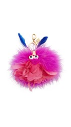 Sophie Hulme Wizzy Key Ring Pink Blue