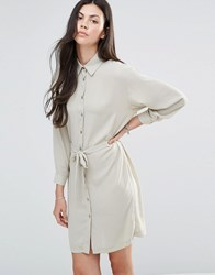 Love Belted Shirt Dress Light Khaki Green