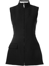 Vera Wang Structured Fencing Vest Black