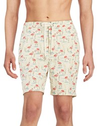 Brooks Brothers Flamingo Swim Trunks Assorted