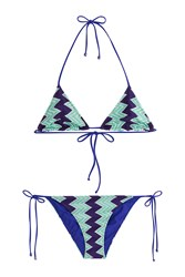 Missoni Mare Chevron Knit Triangle Bikini Multicolor