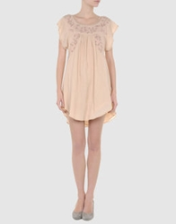 Beija Short Dresses Beige