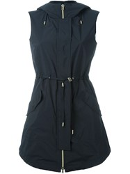 Herno Hooded Zipped Gilet Black
