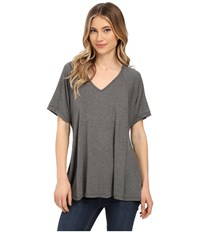 Culture Phit Viola Modal Short Sleeve Top Heather Charcoal Women's T Shirt Gray