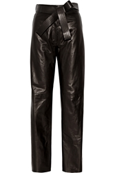 Loewe Leather Wide Leg Pants