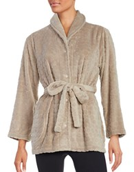 Miss Elaine Short Robe Beige