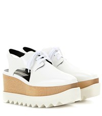 Stella Mccartney Elyse Platform Cut Out Derby Shoes White