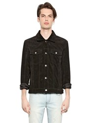 Blk Dnm Clean Cut Suede Jacket