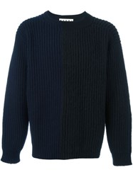 Marni Two Tone Jumper Blue
