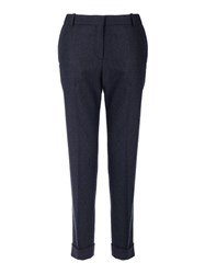 Jigsaw London Cross Hatch Trouser Navy