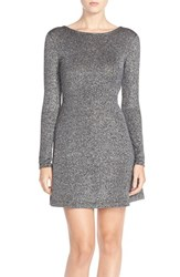 Women's French Connection 'Bianca' Metallic Sweater A Line Dress