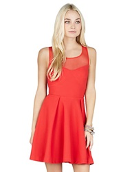 Bcbgeneration Back Bow Empire Dress Passion Red